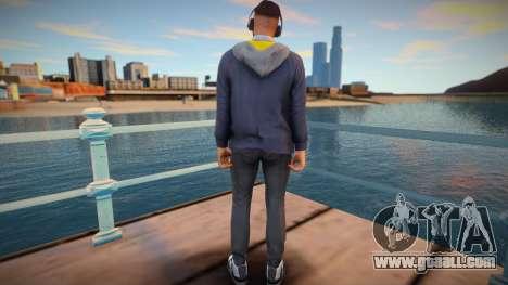Dude in headphones from GTA Online for GTA San Andreas
