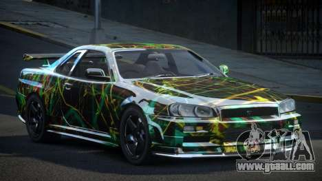 Nissan Skyline R34 PSI-U S10 for GTA 4