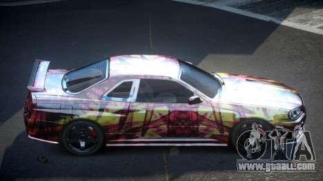 Nissan Skyline R34 PSI-U S6 for GTA 4