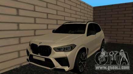 BMW X5M F95 White Plates for GTA San Andreas