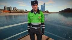 Private traffic police in winter uniform for GTA San Andreas