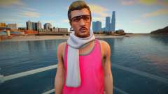 Hipster in a pink T-shirt from GTA Online for GTA San Andreas
