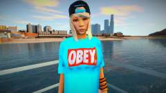 Blonde in a blue T-shirt for GTA San Andreas