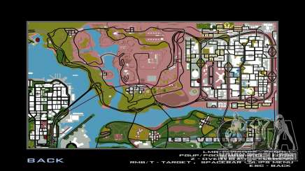 New game map for GTA San Andreas