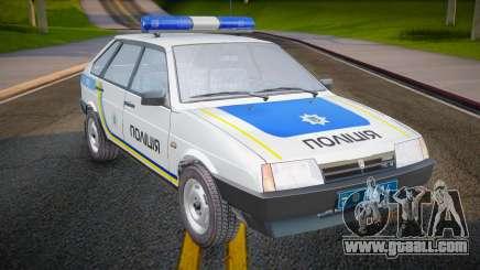 VAZ 2109 Police of Ukraine for GTA San Andreas