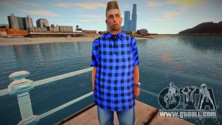 Wmybar in a blue shirt for GTA San Andreas