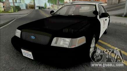 Ford Crown Victoria 2011 CVPI LAPD GND v2 for GTA San Andreas
