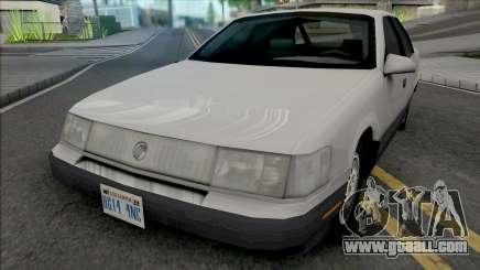 Mercury Sable GS 1989 Lowpoly for GTA San Andreas