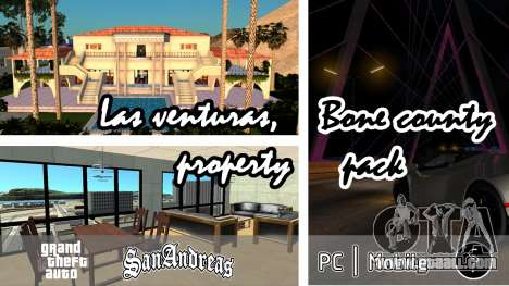 Las venturas, Bone county property pack for GTA San Andreas
