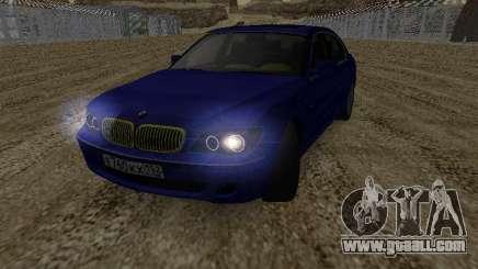 BMW 760LI EKH152RUS for GTA San Andreas
