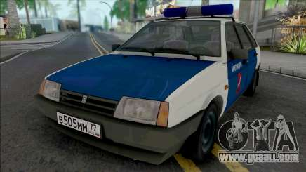 VAZ-2109 Moscow Militia of the 90s for GTA San Andreas
