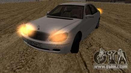 Mercedes-Benz S600 RUS Plates for GTA San Andreas