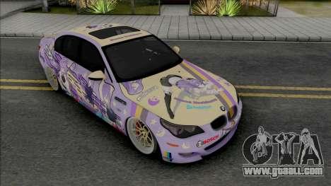 BMW M5 E60 2009 Moona Hoshinova Itasha for GTA San Andreas