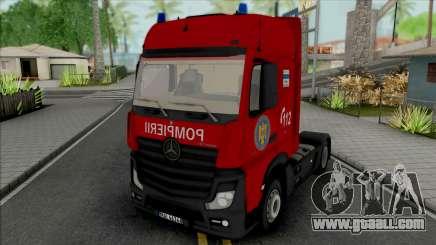 Mercedes-Benz Actros Pompierii for GTA San Andreas