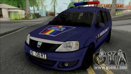 Dacia Logan MCV 2010 Politia Locala for GTA San Andreas