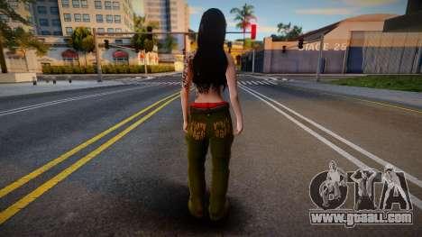Gangsta girl skin for GTA San Andreas