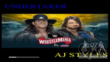 WWE Wrestlemania 2020 Loadscreen for GTA San Andreas