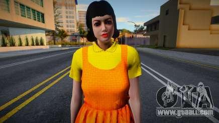 Female Custom Giant Doll Dress Round6 Squid Game for GTA San Andreas